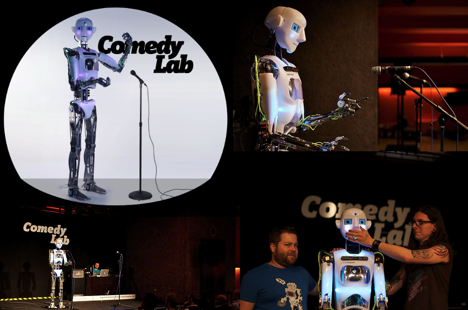 Comedy Lab: Human vs. Robot, A Hack the Barbican Activity.