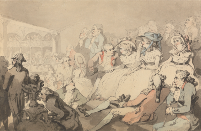 Featured Image: © Thomas Rowlandson - An Audience at Drury Lane Theatre (ca 1785).